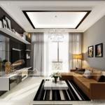Mẫu nội thất kết hợp Á – Âu trong căn hộ 01 toà Sapphire 2 Goldmark City
