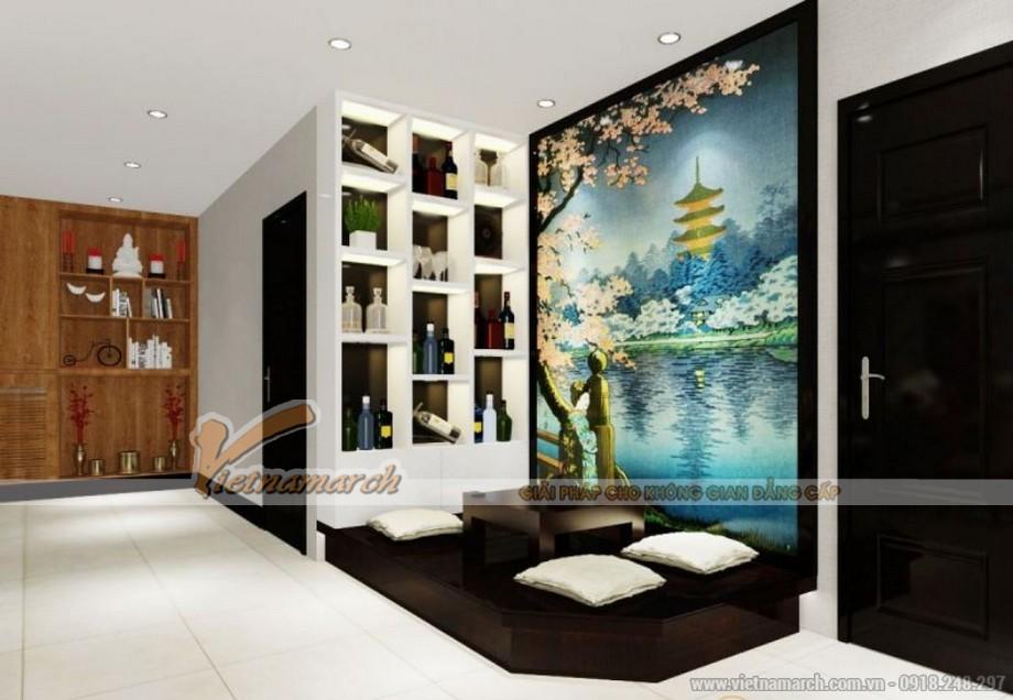 Nội thất phòng khách căn hộ 01 tòa Sapphire 2 chung cư Goldmark City 02