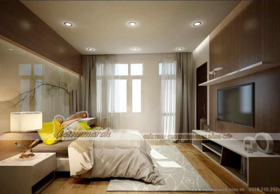 Nội thất phòng ngủ ấm cúng trong căn hộ Sapphire 2 chung cư Goldmark City