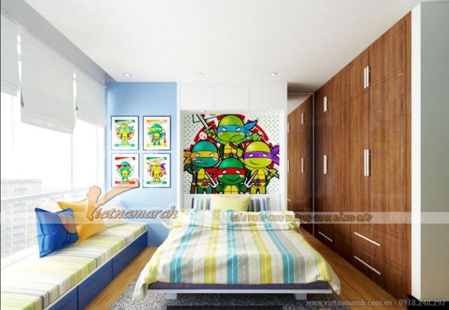 Nội thất phòng ngủ cho trẻ ngộ nghĩnh, sinh động trong căn hộ Sapphire 2 chung cư Goldmark City