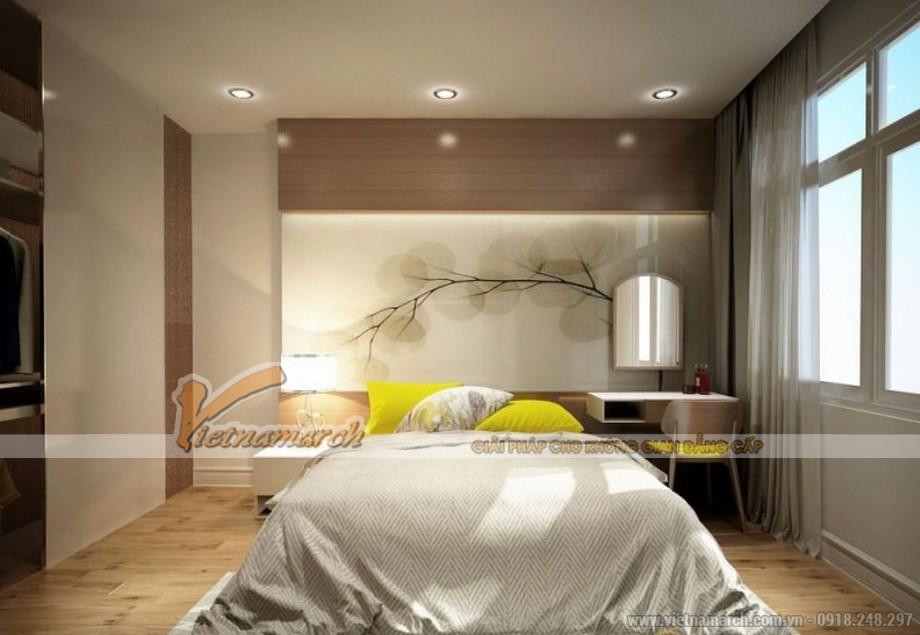 Nội thất phòng ngủ ấm cúng trong căn hộ tòa Sapphire 2 chung cư Goldmark City