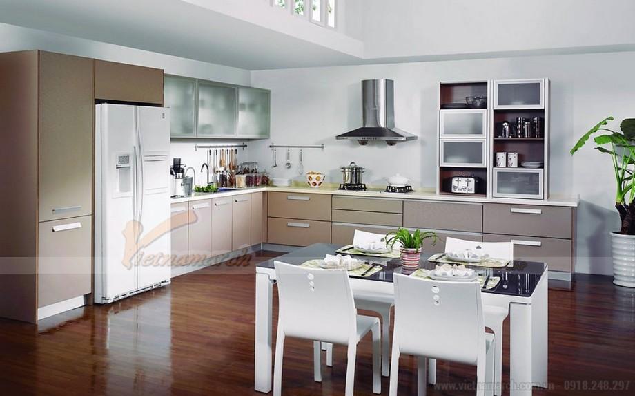 Thiết kế nội thất hiện đại cho phòng bếp căn hộ Vinhomes Skylake-01