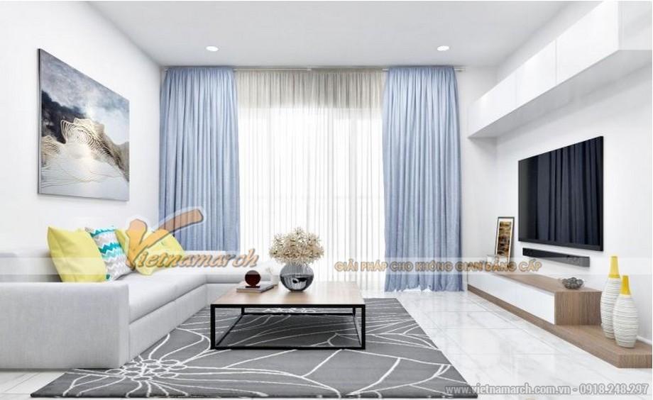 Nội thất phòng khách căn hộ 01 tòa Sapphire 4