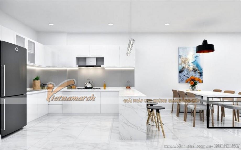Phòng bếp rộng rãi trong căn hộ tòa Sapphire 4 Goldmark City