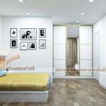 Nội thất phong cách Âu, đơn giản mà hiện đại trong căn hộ 01 tòa Sapphire 4 Goldmark City