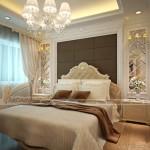 Thiết kế nội thất cổ điển cho phòng ngủ căn hộ Vinhomes Skylake