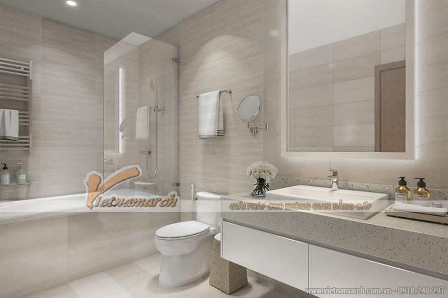 Nội thất phòng tắm căn hộ mẫu chung cư Vinhomes Skylake