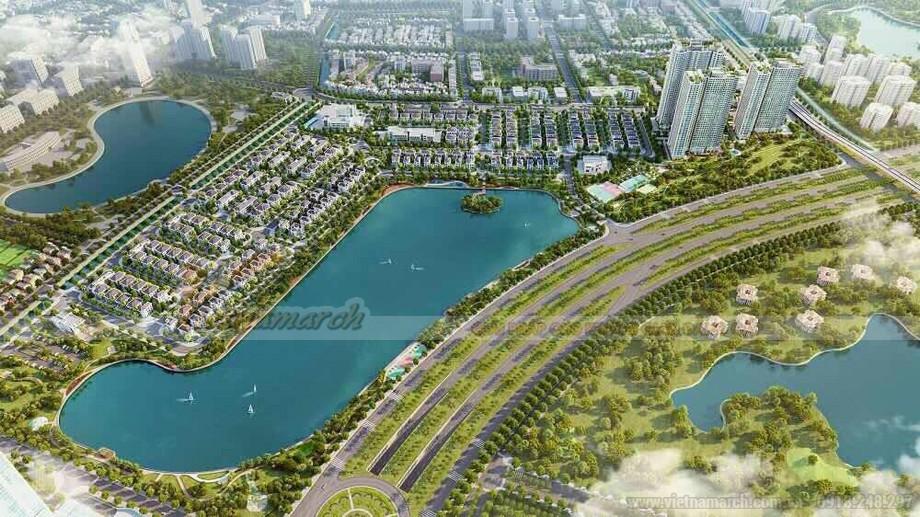 Phối cảnh dự án tổ hợp chung cư Vinhomes Green Bay Mễ Trì
