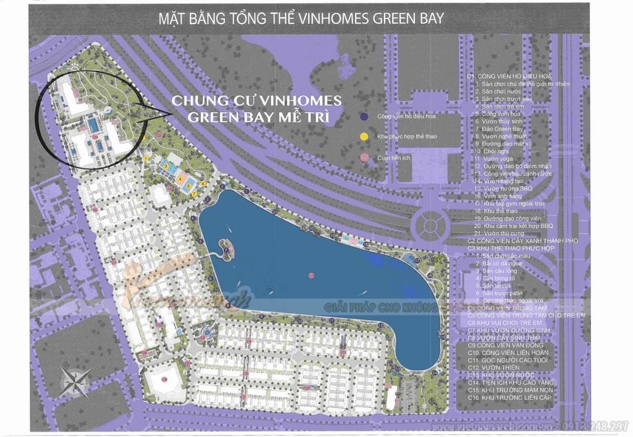 Mặt bằng tổng thể Vinhomes Green Bay Mễ Trì