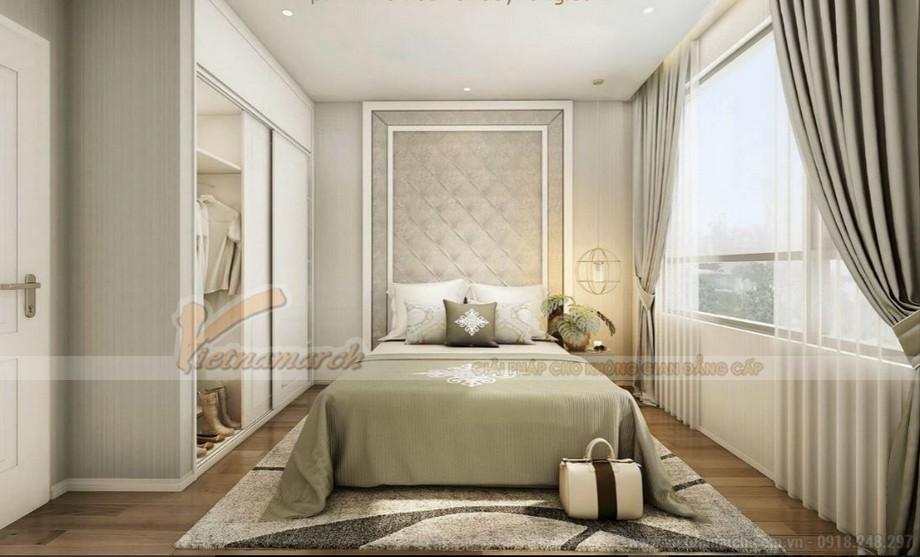 Phòng ngủ sang trọng, ấm cúng của căn hộ Vinhomes Green Bay Mễ Trì