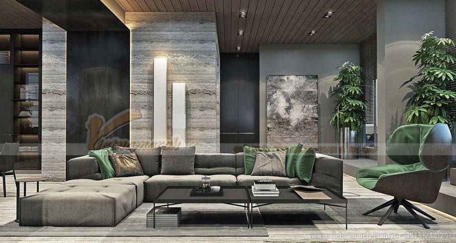 Thiết kế nội thất Penthouse sang trọng và ấn tượng