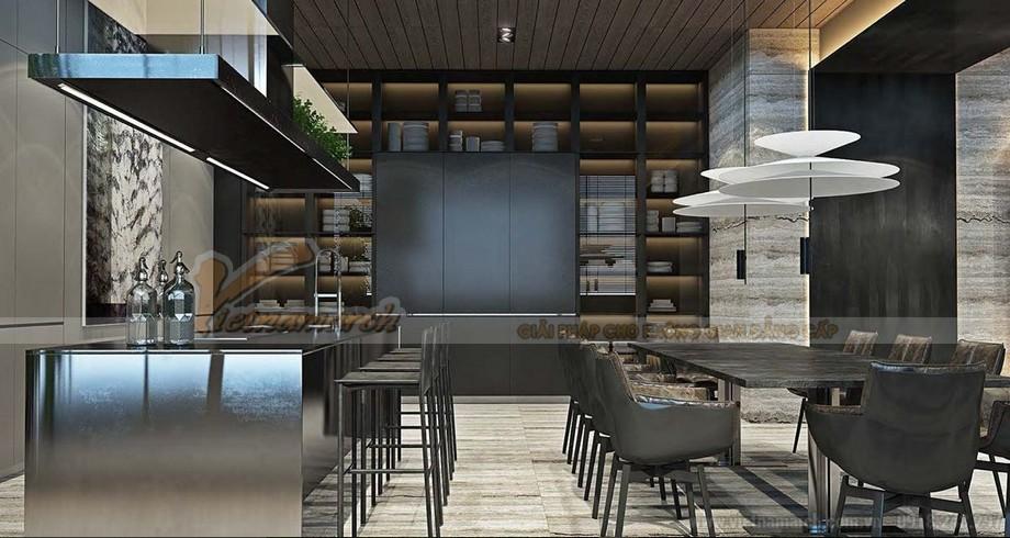 Thiết kế phòng bếp trong căn hộ Penthouse cực chất