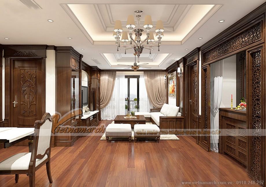 Thiết kế nội thất căn 06 tòa ruby 1 chung cư Goldmark City