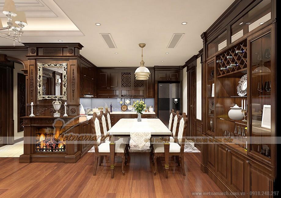 Nội thất phòng bếp trong căn hộ 06 tòa ruby 1 Goldmark City