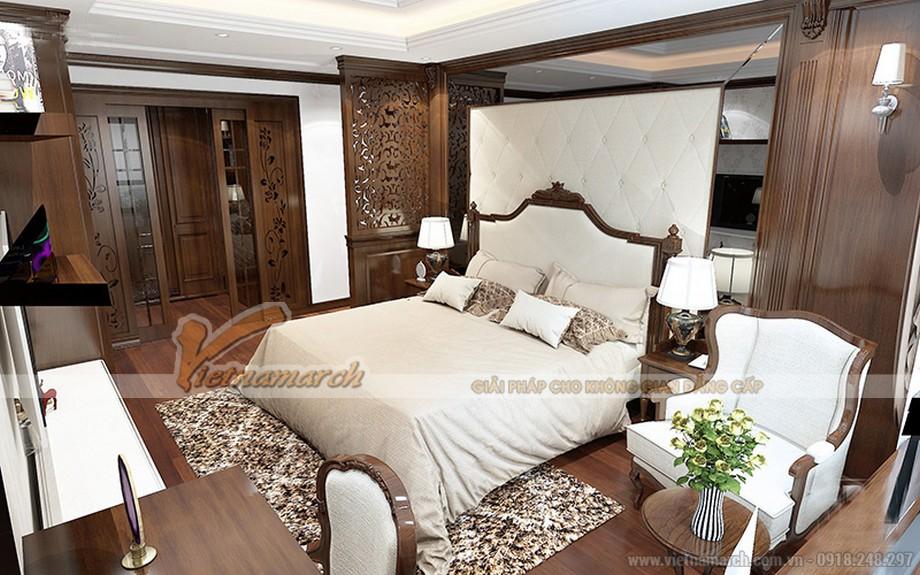 Nội thất phòng ngủ trong căn hộ 06 tòa ruby 1 Goldmark City