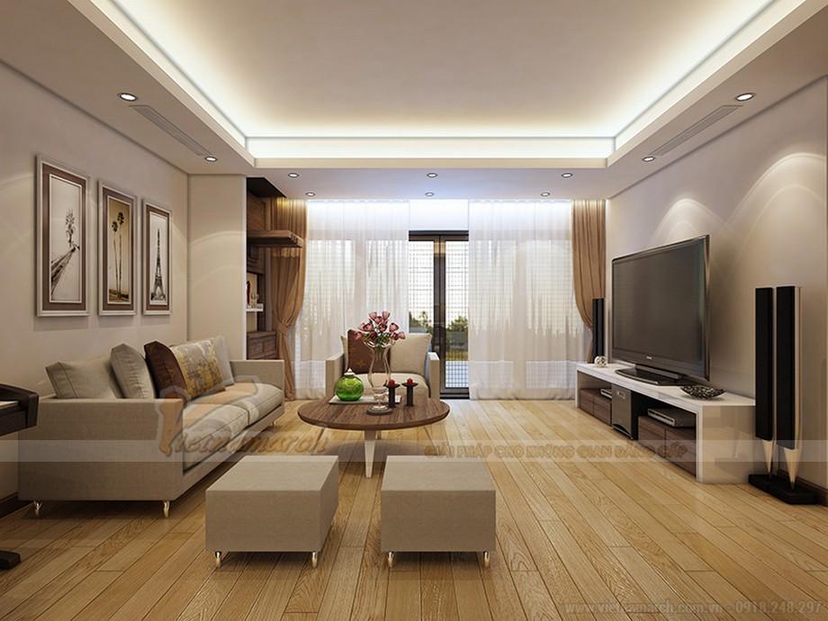 Thiết kế nội thất căn hộ Ruby 03 tòa chung cư Goldmark city-02