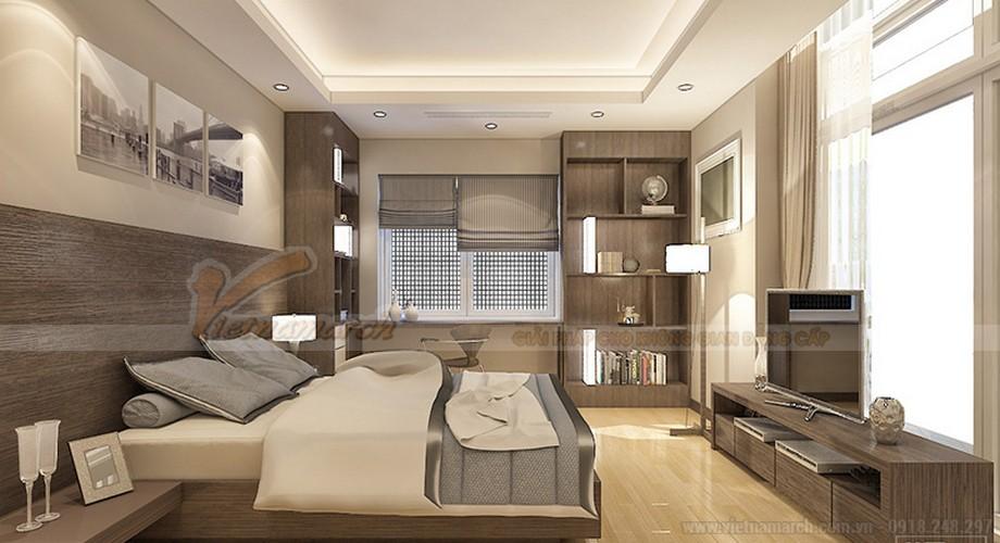 Thiết kế nội thất căn hộ Ruby 03 tòa chung cư Goldmark city-06