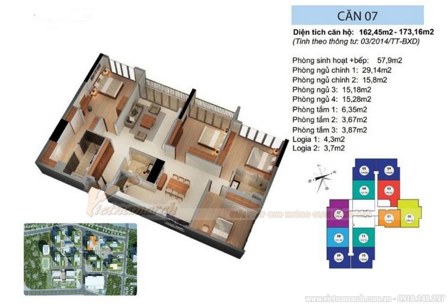 Thiết kế nội thất căn hộ 07 tòa Ruby 1 đậm chất Á Đông