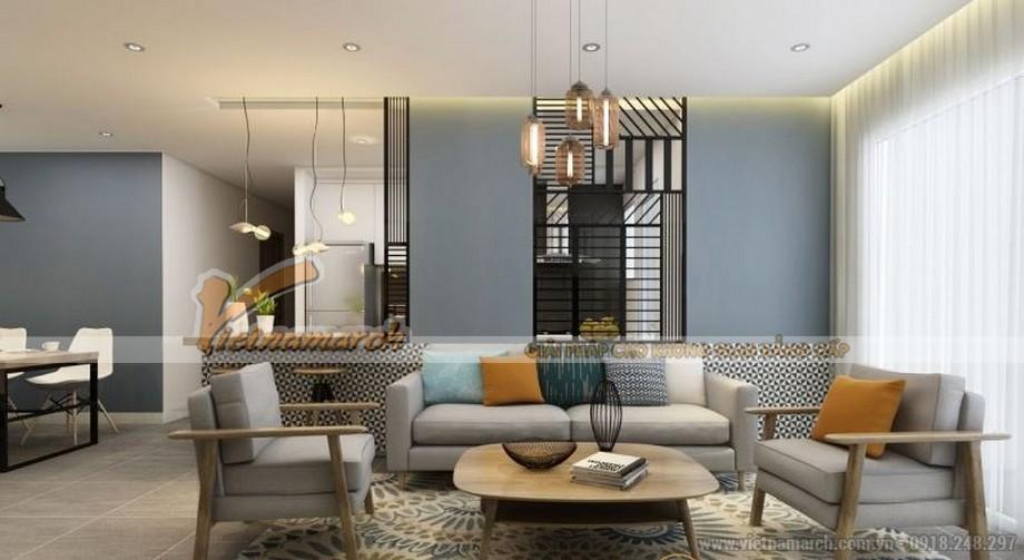 Mặt bằng thiết kế nội thất phòng khách căn hộ 01 tòa ruby 3