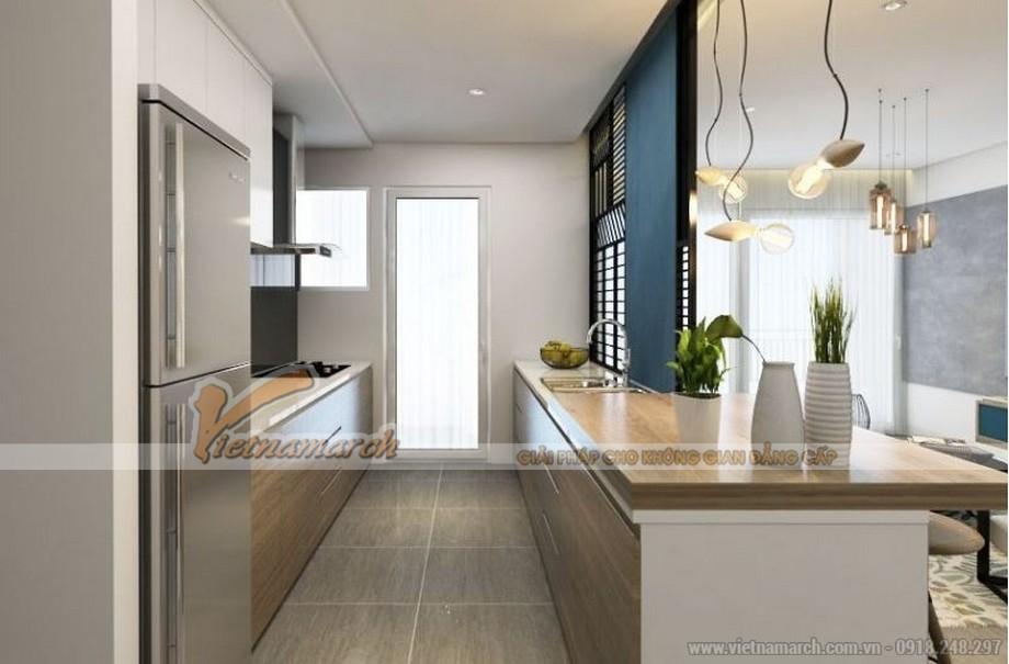 Mặt bằng thiết kế nội thất phòng bếp căn hộ 01 tòa ruby 3