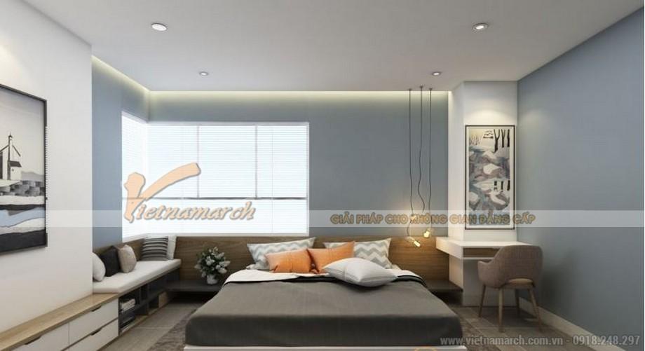 Mặt bằng thiết kế nội thất phòng ngủ căn hộ 01 tòa ruby 3