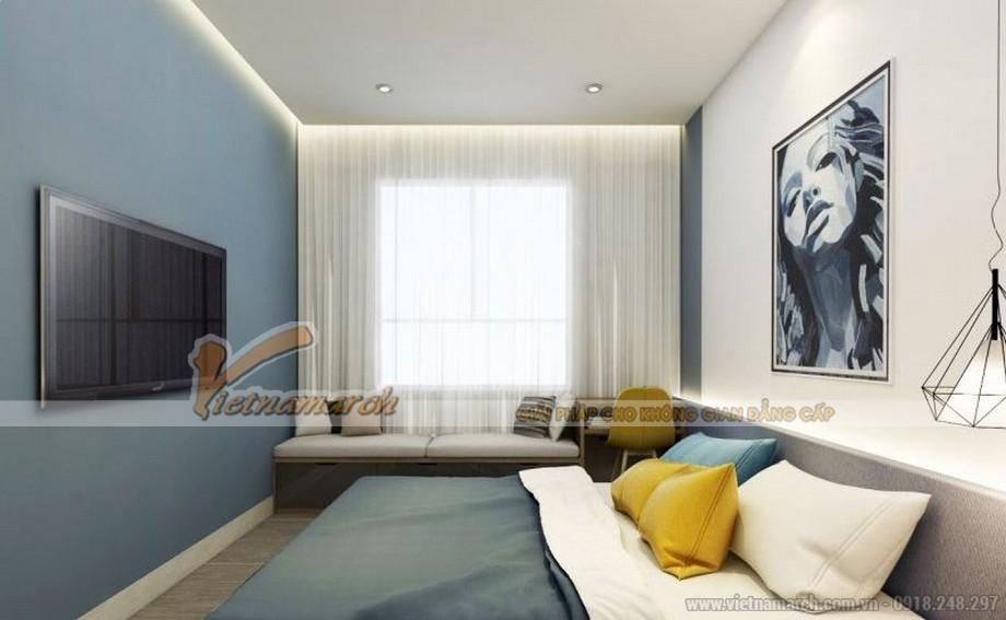 Mặt bằng thiết kế nội thất phòng ngủ căn hộ 01 tòa ruby 3 - phòng ngủ nhỏ