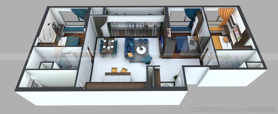 Phương án thiết kế hoàn hảo cho căn hộ 15 Park 8 Times City