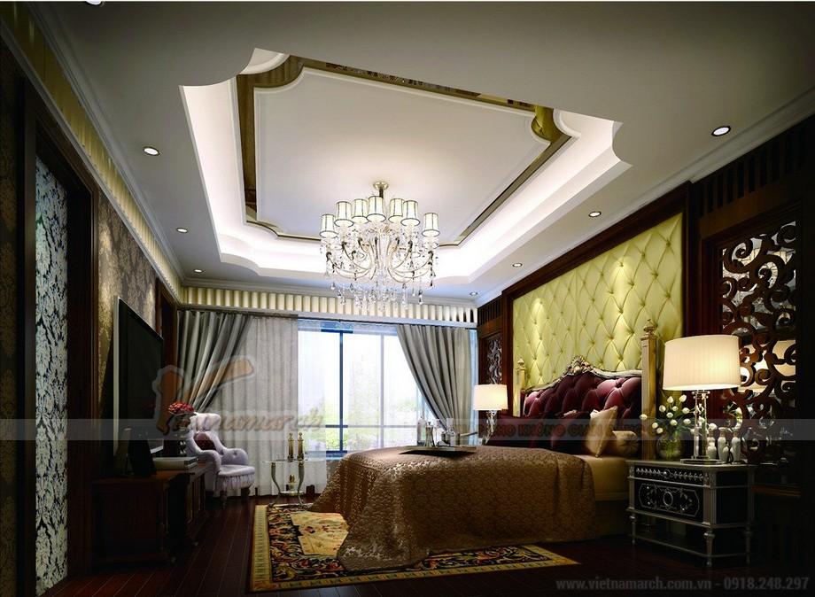 Nội thất phòng ngủ đẹp phong cách tân cổ điển châu Âu tại Vinhomes Skylake