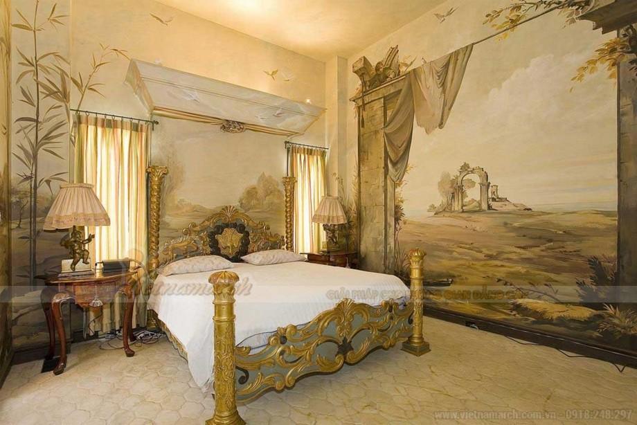 Thiết kế nội thất cổ điển châu Âu cho phòng ngủ căn hộ Vinhomes skylake-01
