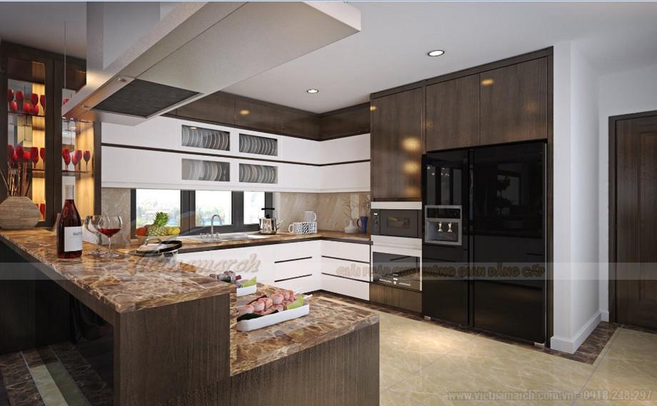 Thiết kế nội thất phòng bếp -hiện đại tiện nghi