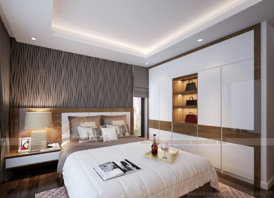 Thiết kế nội thất phòng ngủ ấm áp tòa Ruby 3 Goldmark City