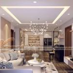 Thiết kế nội thất phong cách hiện đại căn hộ 05 tòa Sapphire 2 Goldmark City
