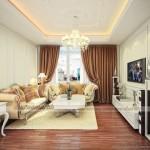 Thiết kế nội thất phong cách tân cổ điển căn hộ 01 Ruby 2 Goldmark City