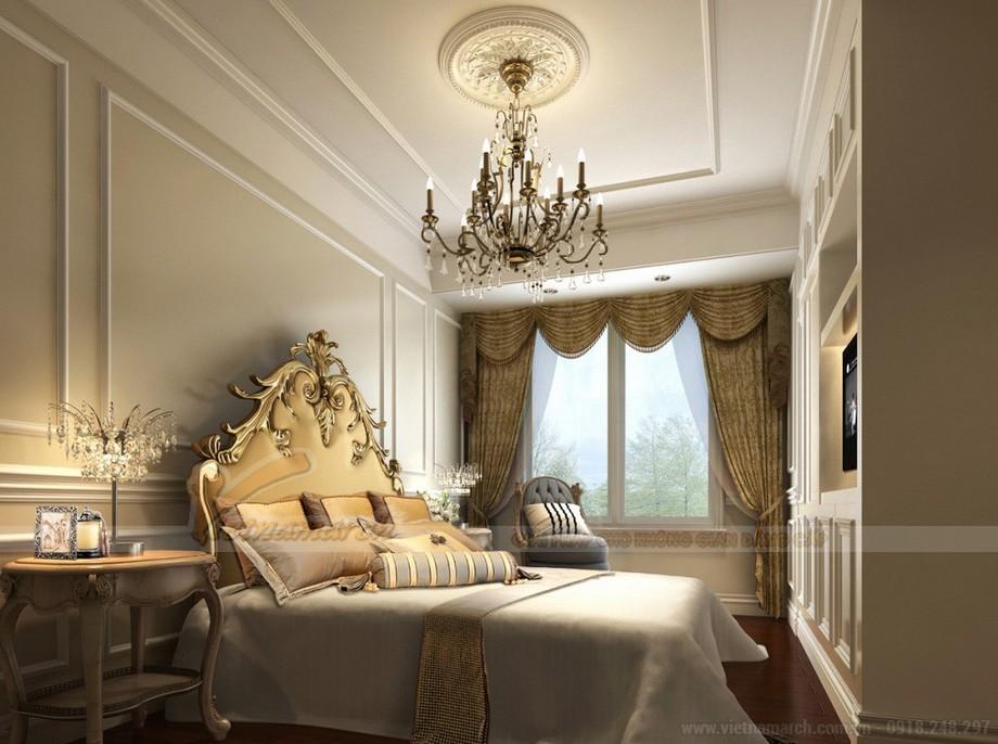 Phòng ngủ tân cổ điển thiết kế dành riêng cho dự án nội thất chung cư Vinhomes Skylake