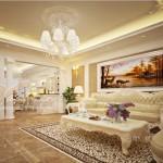 Thiết kế nội thất phong cách tân cổ điển châu Âu cho căn hộ 01 tòa Sapphire 1