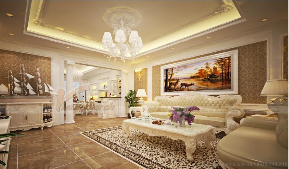 Thiết kế nội thất phong cách tân cổ điển cho căn hộ 01 tòa Sapphire 1-02