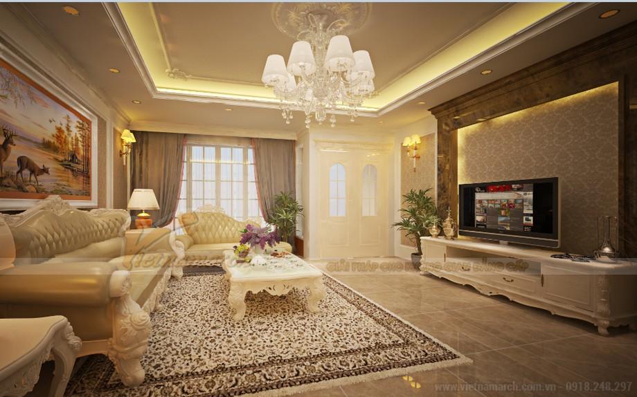 Thiết kế nội thất phong cách tân cổ điển cho căn hộ 01 tòa Sapphire 1-03