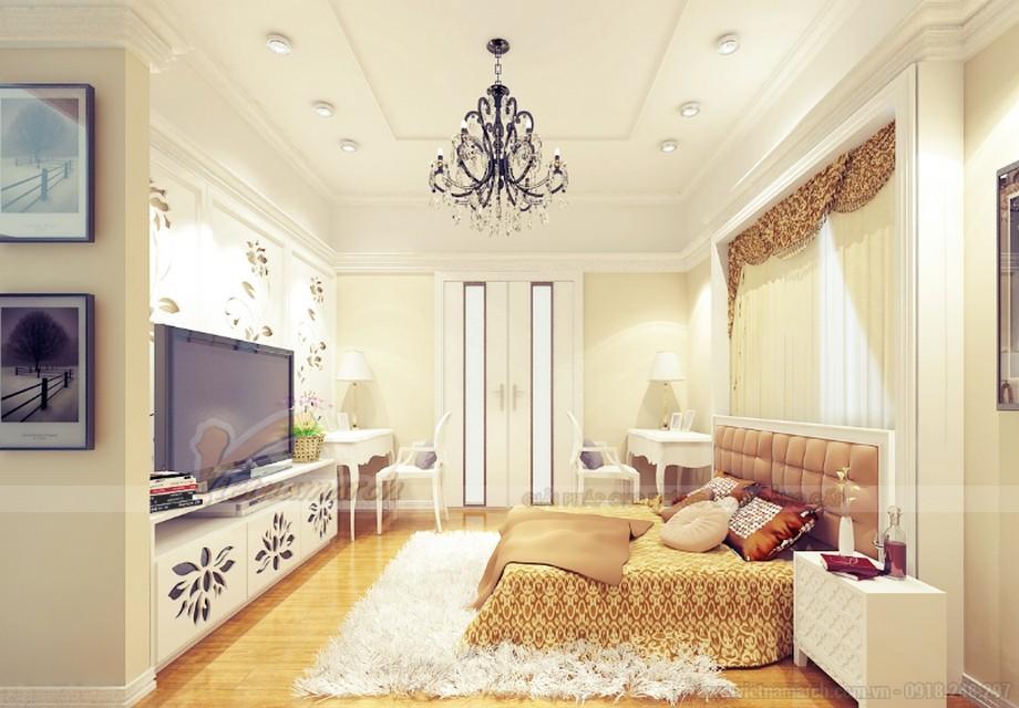 Thiết kế nội thất phong cách tân cổ điển cho căn hộ 01 tòa Sapphire 1-07
