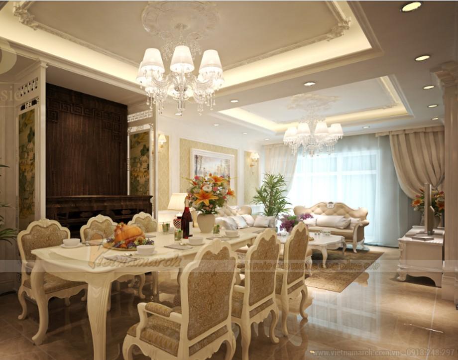 Thiết kế nội thất phong cách tân cổ điển cho căn hộ 01 tòa Sapphire 1-04