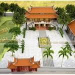 Công trình nhà thờ họ 2 tầng 8 mái tại Bắc Giang