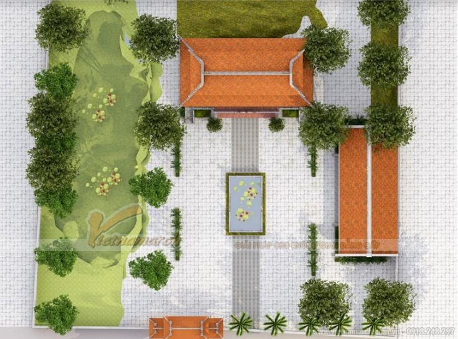 Nhà thờ họ 2 tầng 8 mái tại Bắc Giang