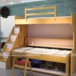 Giường ngủ kết hợp với bàn làm việc đa năng, hiện đại