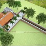 Mẫu nhà thờ họ 3 gian 2 chái được thiết kế theo kiểu nhà cổ 5 gian