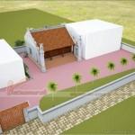 Mẫu thiết kế nhà thờ họ 3 gian 2 mái tại xã Cao Xá – Phú Thọ