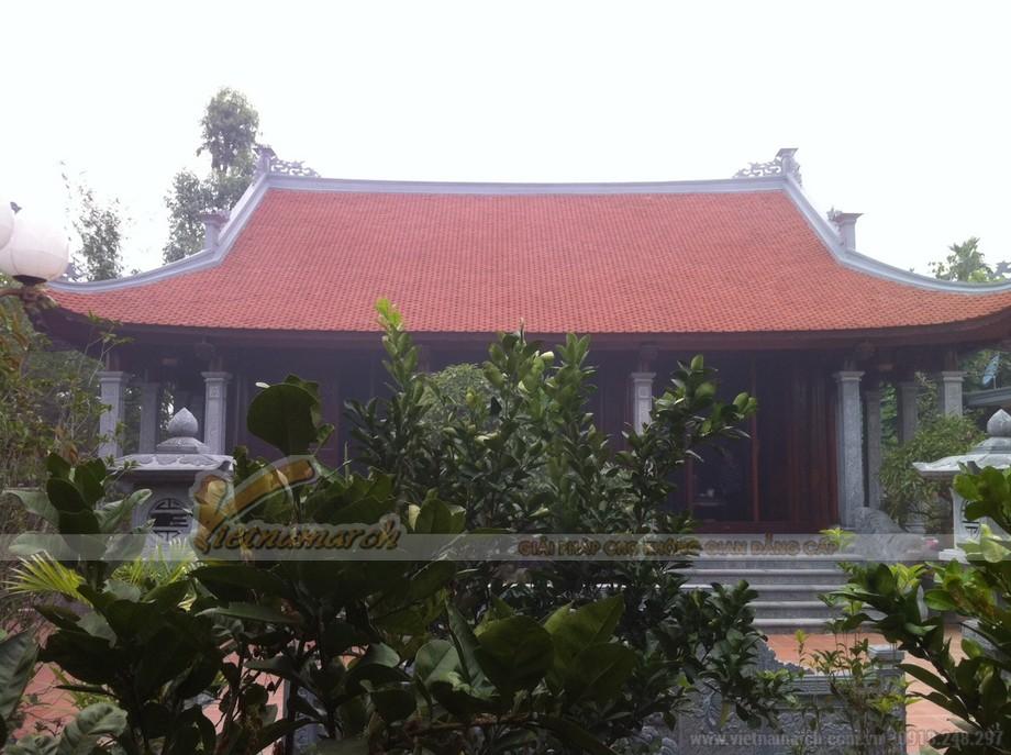 Công trình nhà thờ họ 4 mái được vietnamarch thi công hoàn thiện