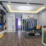 Thiết kế và thi công hoàn thiện căn 06 tầng 14 chung cư Đông Đô