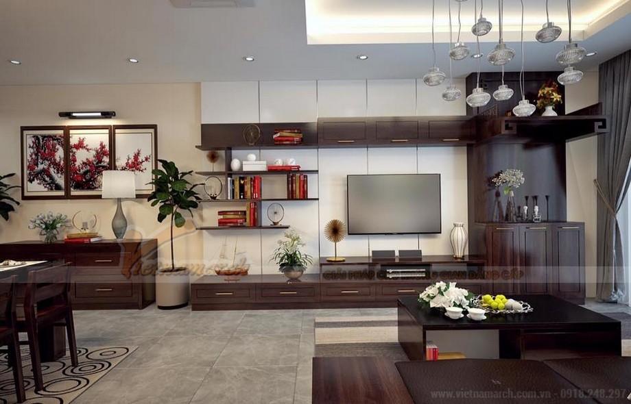 Phương án thiết kế nội thất hiện đại cho căn hộ Vinhome Skylake -01