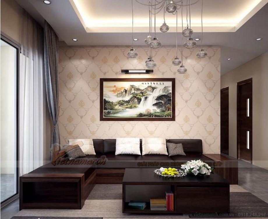 Phương án thiết kế nội thất hiện đại cho căn hộ Vinhome Skylake -02