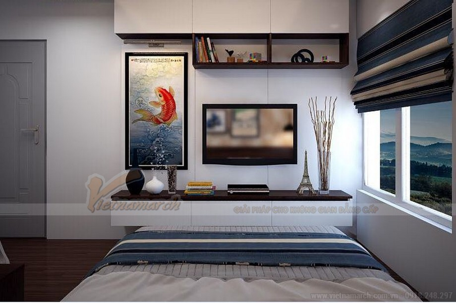 Phương án thiết kế nội thất hiện đại cho căn hộ Vinhome Skylake -10