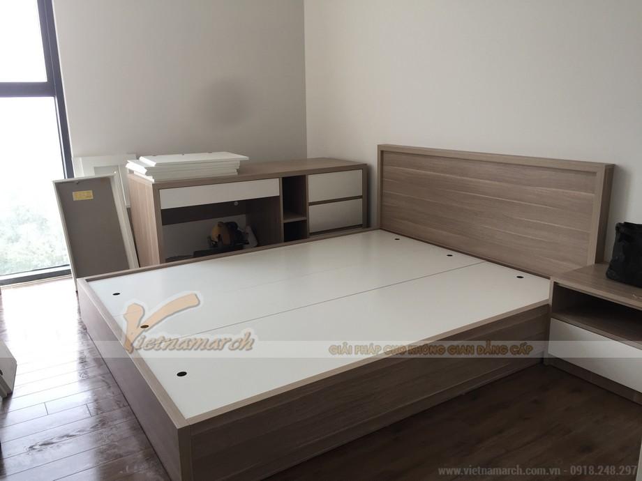 Phòng ngủ ấn tượng với nội thất hiện đại và thông minh